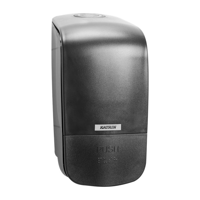 Katrin 92186 Soap Dispenser 500 ml til sæbe & foam - Sort plast