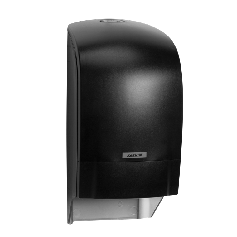 Katrin 104605 System Toilet Dispenser til toiletruller - Sort plast