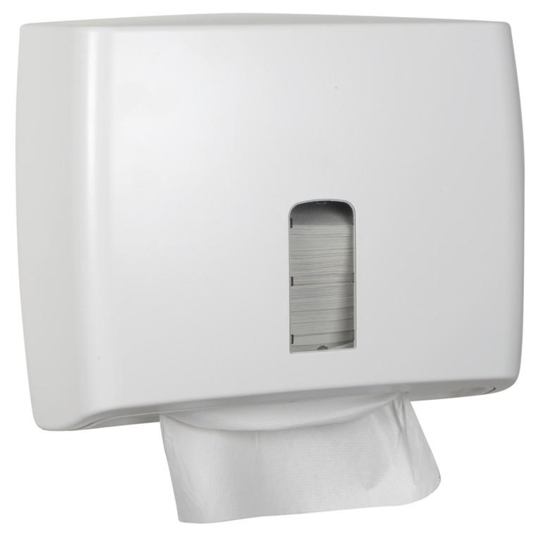 Dispenser, White Classic, Mini, 13x30,5x26cm, hvid, plast, til alle typer håndklædeark