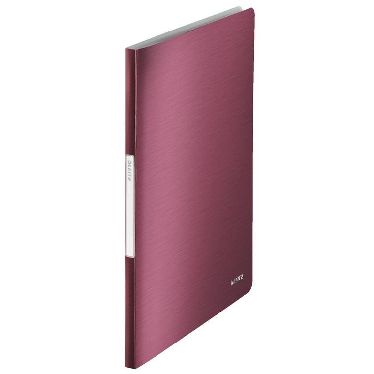Displaybog Leitz Style PP 20 lommer rød