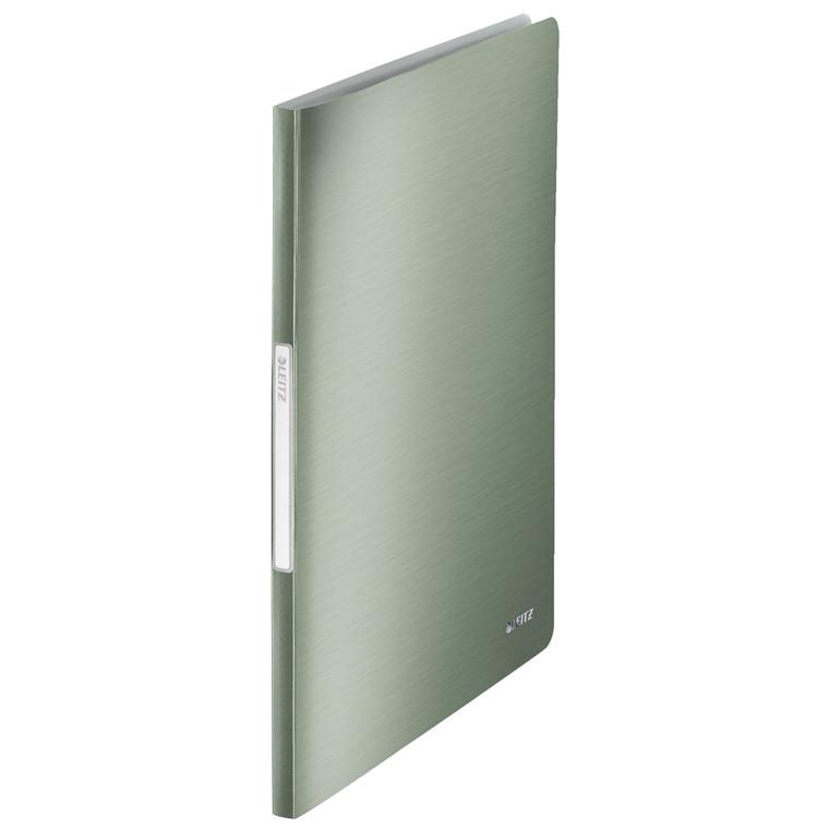 Leitz Style præsentationsmappe A4 med 40 lommer - Grøn