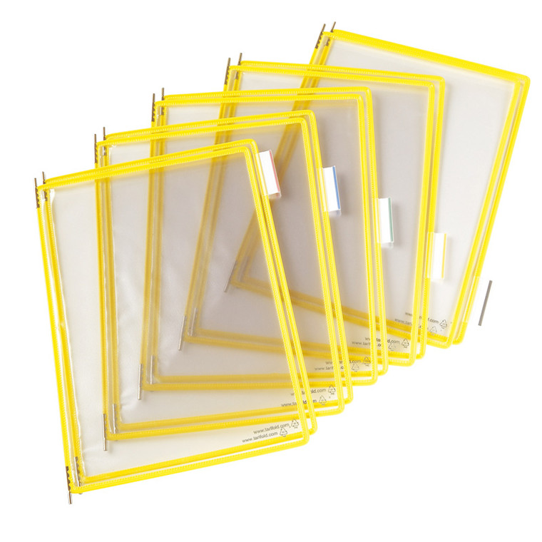 Displaylommer A4 - BNT Tarifold med gul kant - 10 stk i pakke