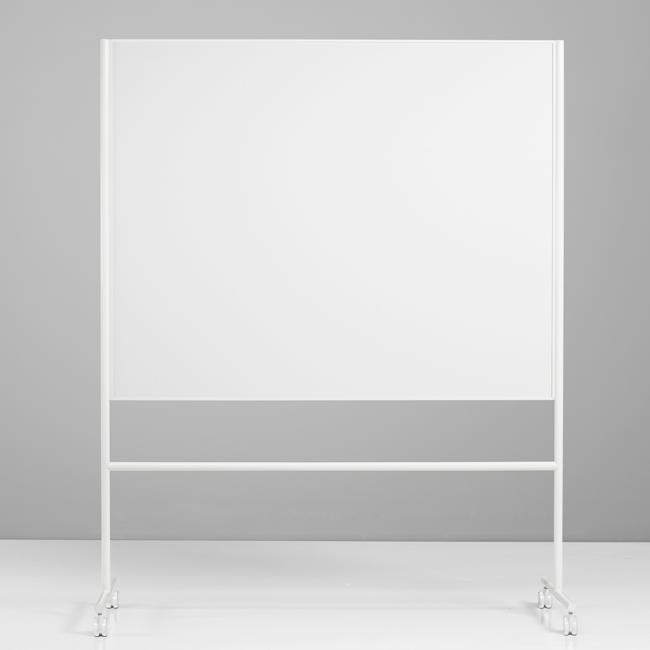 Dobbeltsidet mobiltavle - Lintex ONE 200 x 120 cm hvid ramme og stativ