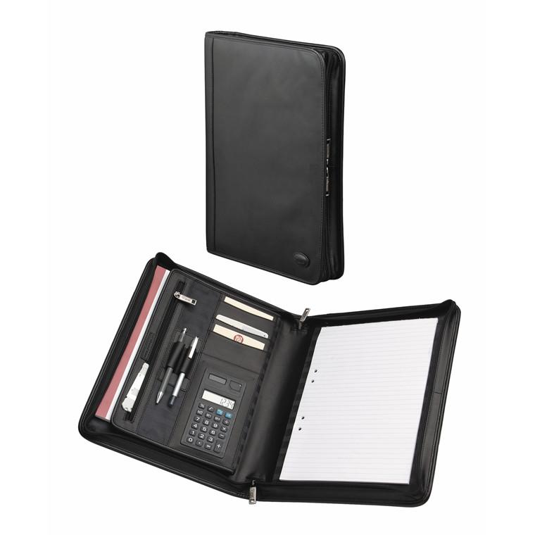 Dokumentmapper m/clipboards læder sort 36,5x28x5cm A4