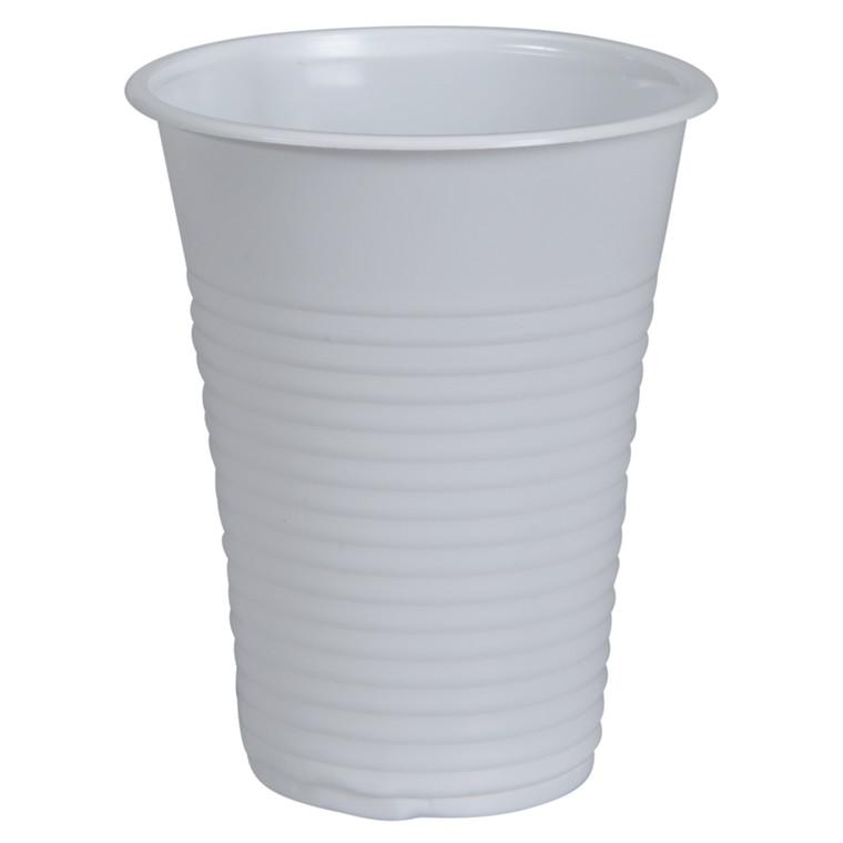 Drikkebæger, hvid, PP, 18 cl, 21 cl