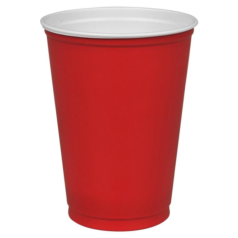 Drikkebæger, rød, polystyren, 25 cl, 30 cl