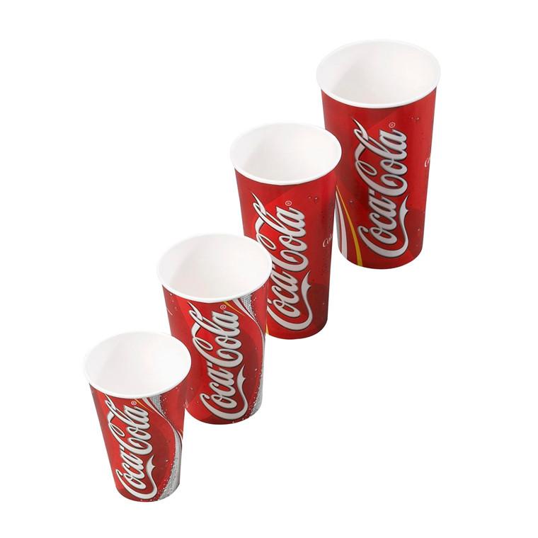 Papkrus - Coca Cola drikkebæger - 50 cl. - 1000 stk.