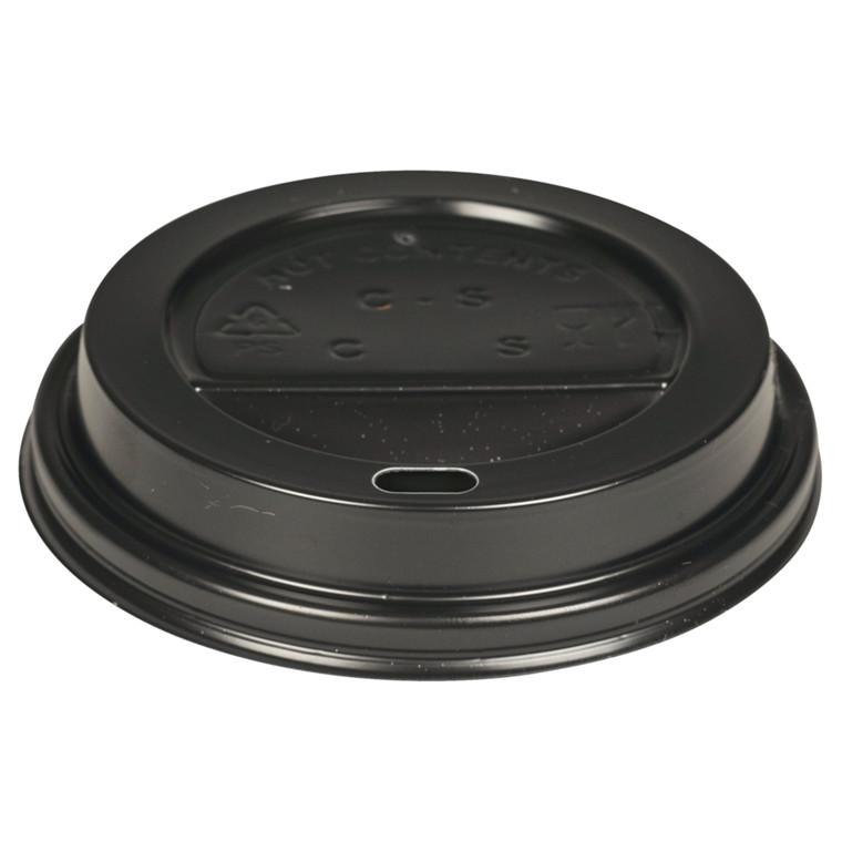 Drikkelåg, Gastro-Line, sort, til kaffebæger, med hul til 36 cl og 48 cl, polystyren, 36 cl og 48 cl
