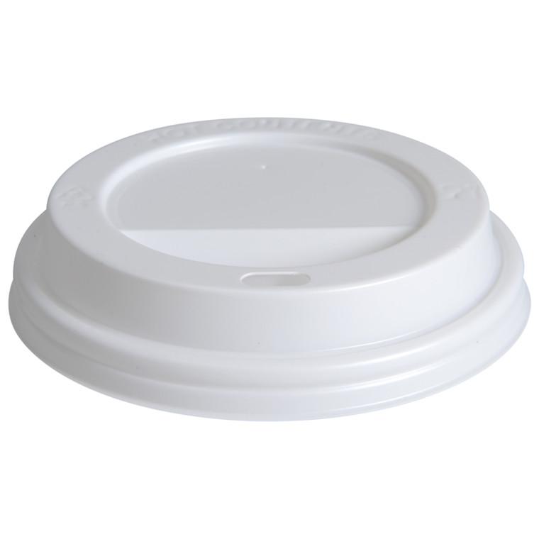 Drikkelåg, Gastro-Line, hvid, til kaffebæger, med hul, til 36cl og 48cl, polystyren, 36 cl og 48 cl