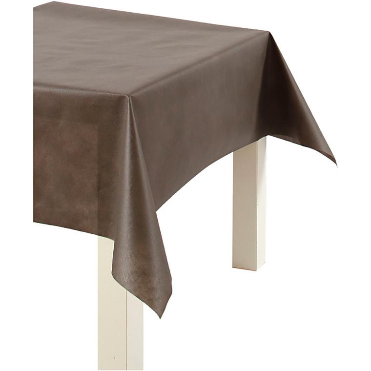 Dug af imiteret stof, B: 125 cm, 70 g/m2, brun, 10m