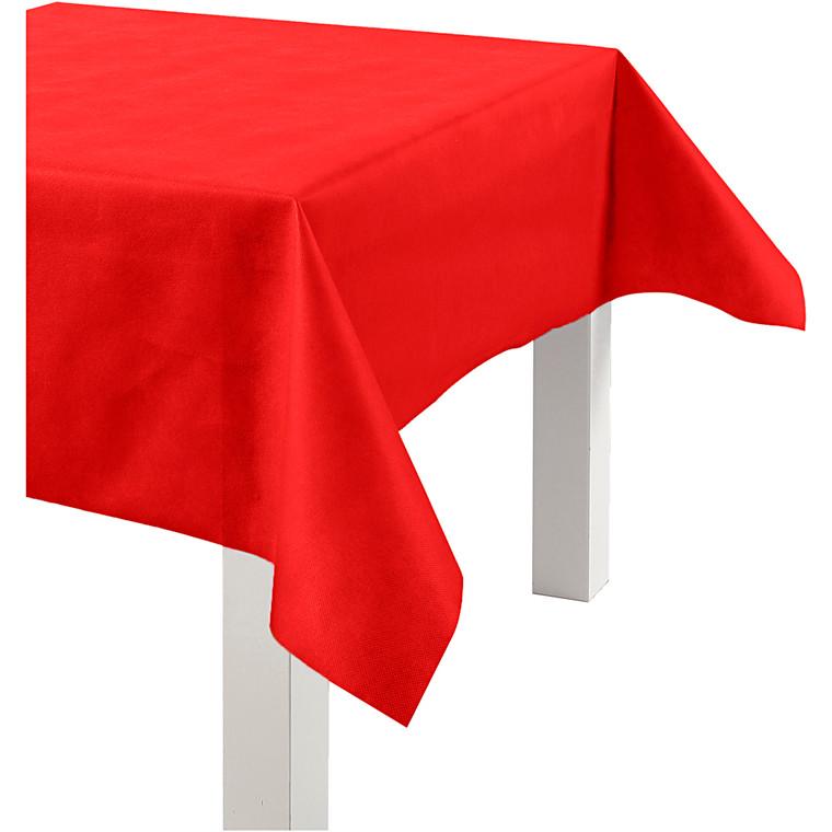 Dug af imiteret stof, rød, B: 125 cm, 70 g/m2, 10m