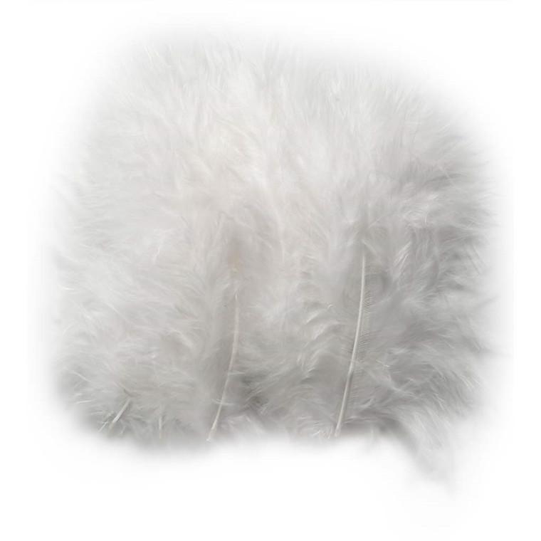 Dun størrelse 5-12 cm hvid - 15 stk.