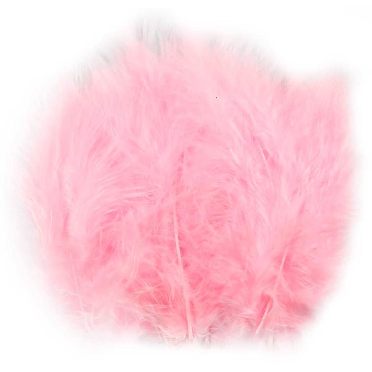Dun lyserød størrelse 5-12 cm - 15 stk.