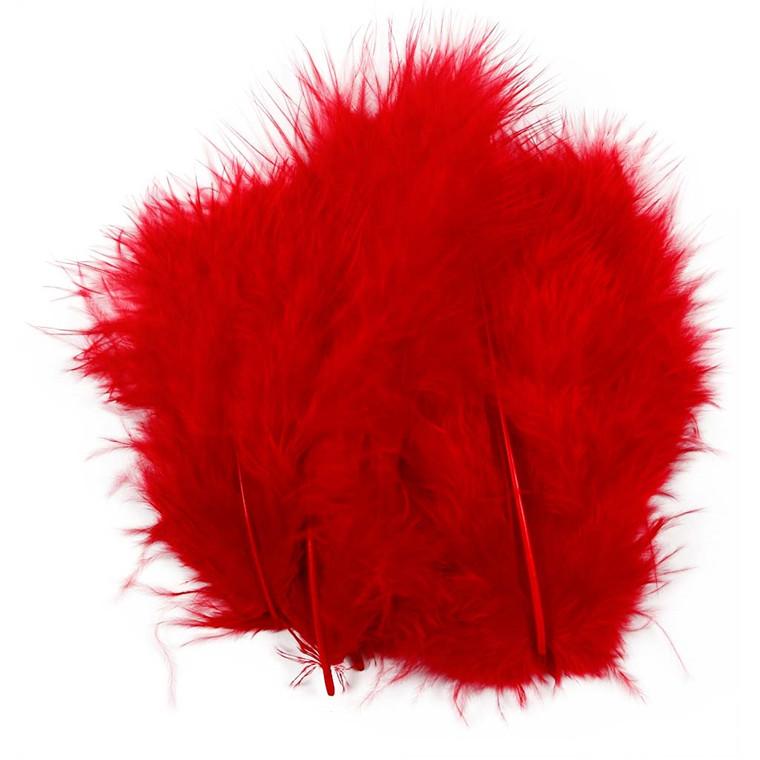 Dun rød størrelse 5-12 cm - 15 stk.