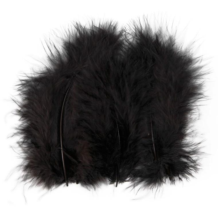 Dun sort størrelse 5-12 cm - 15 stk.