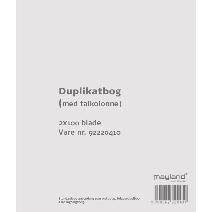 Duplikatbog med talkolonne 126 x 148 mm 92220410 -  2 x 100 blade