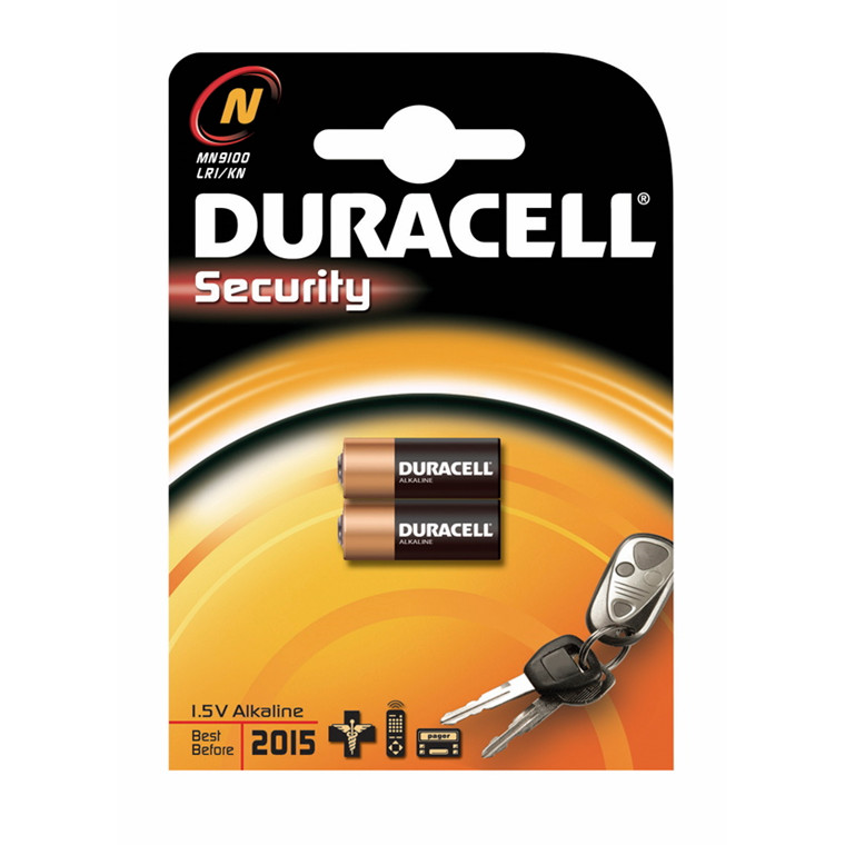 Duracell Security Batteri - N/MN 9100 2 stk i pakken