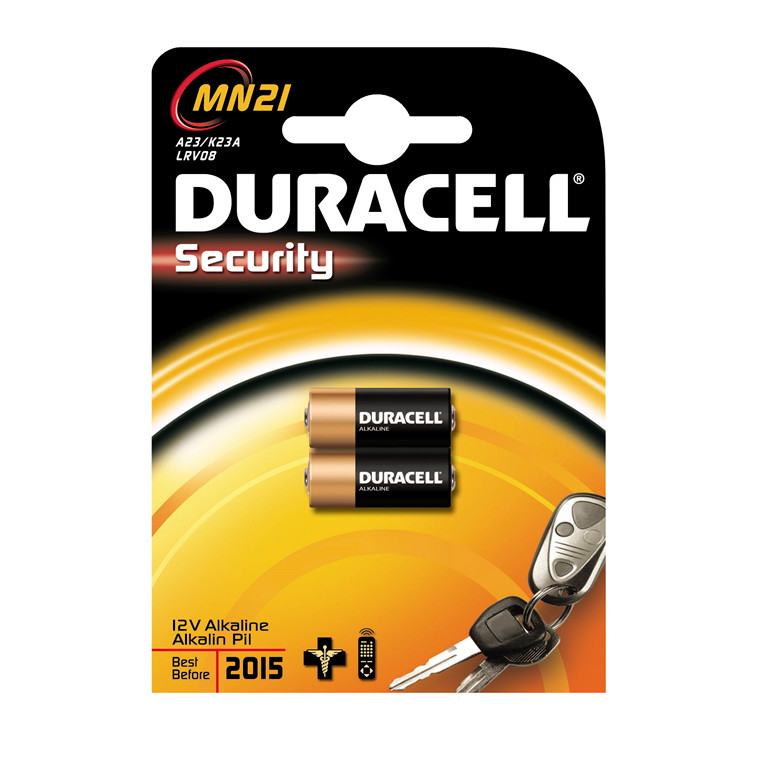 Duracell Security MN21 batteri - 2 stk i pakken