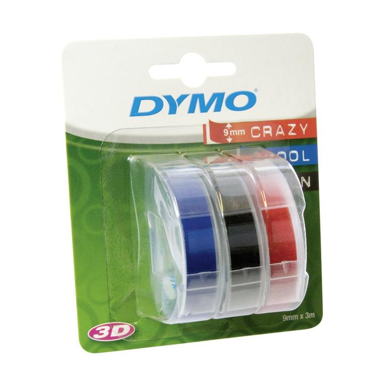 Dymo 3D Prægetape 9 mm i 3 farver - 3 ruller