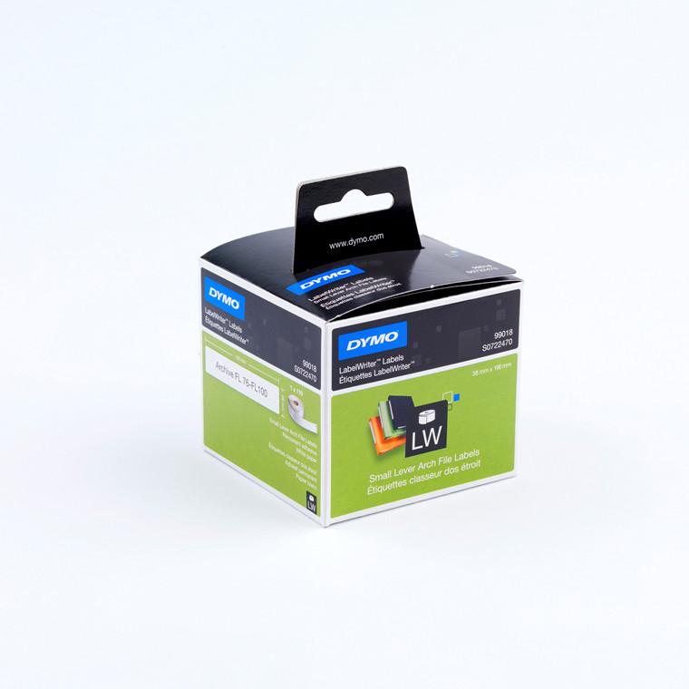 DYMO 99018 - Etiketter store hvid 38 x 190 mm - 110 stk