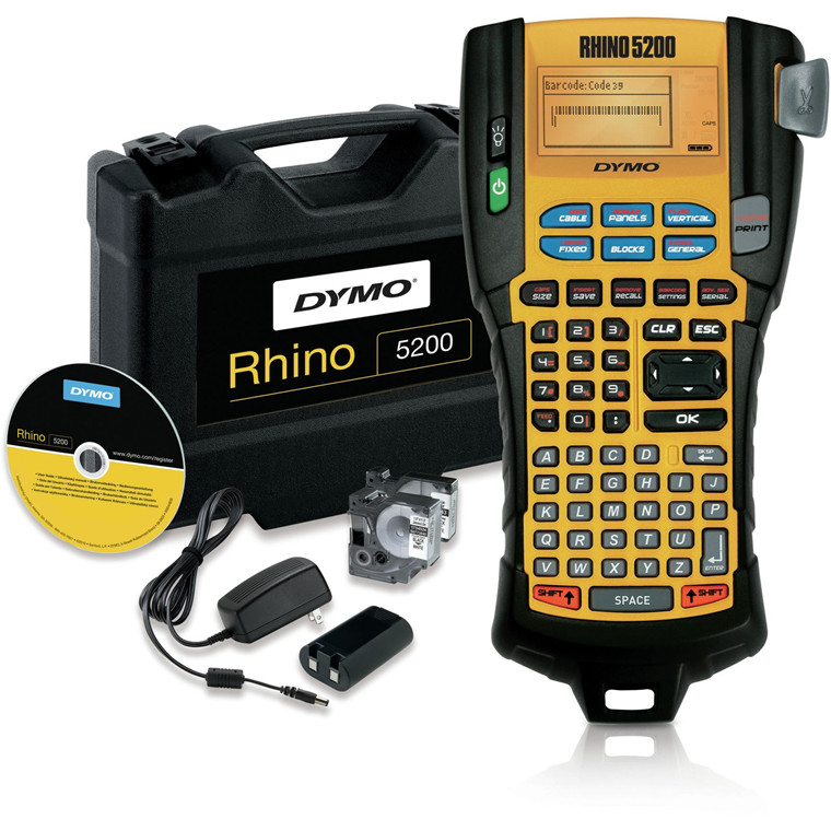 Dymo LabelManager Rhino 5200 pro machine in hardcase