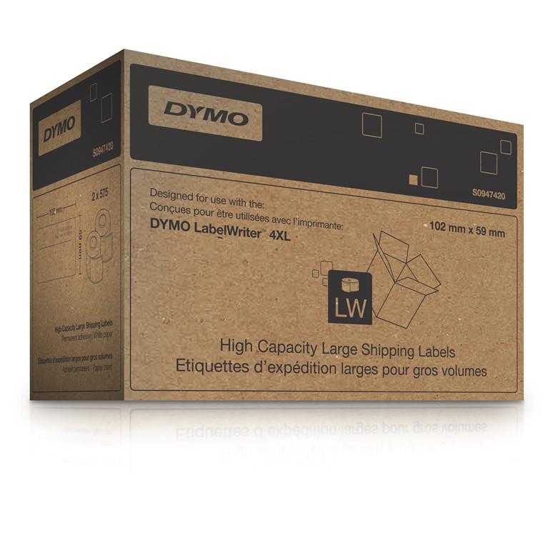 DYMO S0947420 - Store adresseetiketter 102 x 59 mm - 2 x 575 stk