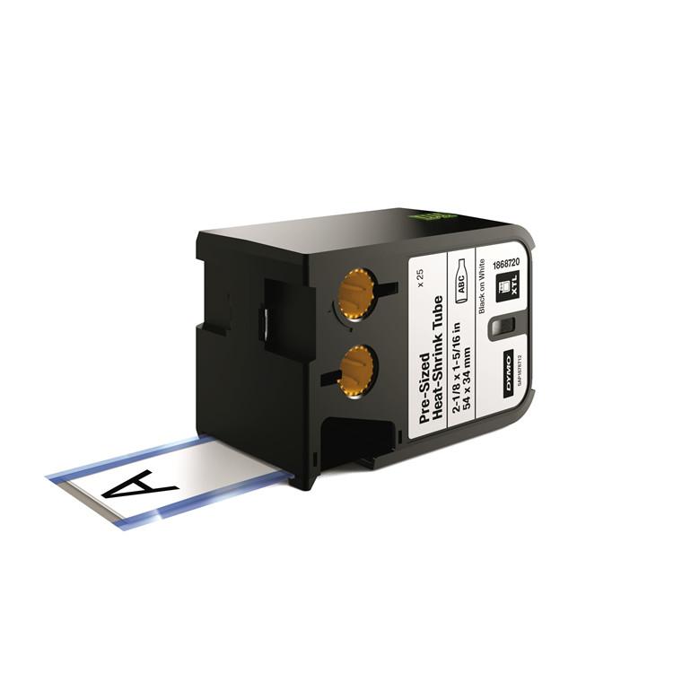 DYMO XTL 1868720 - Etiket tape 54 x 34 mm sort på hvid krympeflex