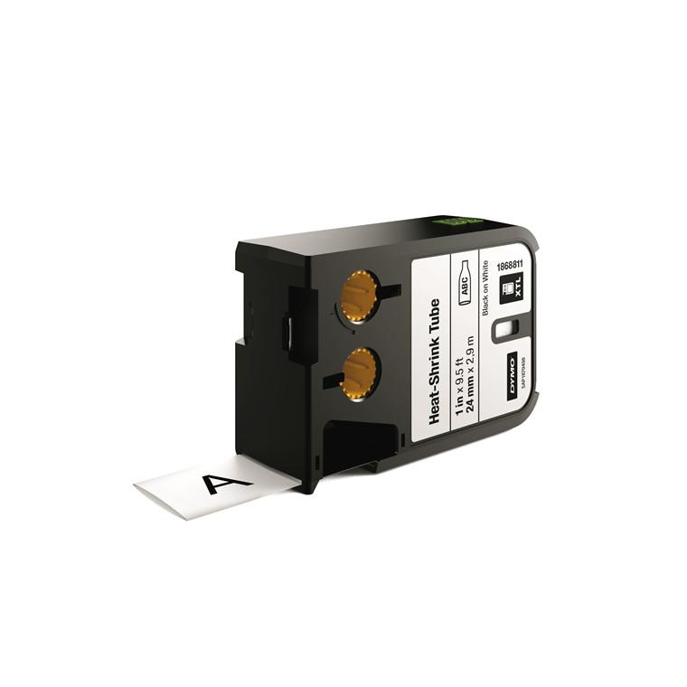 DYMO XTL 1868811 - Labeltape  24 mm x 7,5 m sort på hvid krympeflex