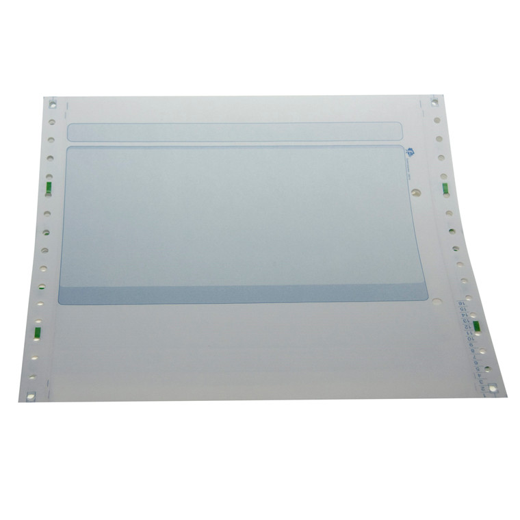 Edb-papir 2-banet m/tryk blå 8,5 x240mm 26019 1000stk/kas
