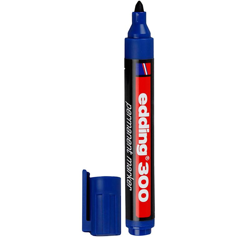 Edding 300 tusch, stregtykkelse: 1,5-3 mm, blå, 1stk.