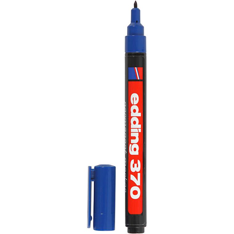Edding 370 tusch, stregtykkelse: 1 mm, blå, 1stk.