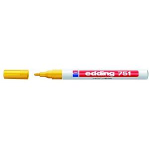 Edding 751 - permanent marker gul rund spids 1-2 mm