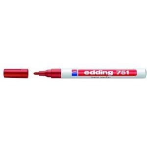 Edding 751 - permanent marker rød rund spids 1-2 mm