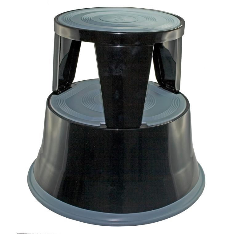 Elefantfod skammel i sort metal - Højde 41 cm
