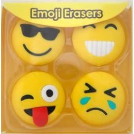 Emoji Viskelæder - Sæt med 4 stk