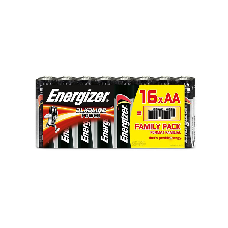 Energizer Alkaline Power AA/E91 (16-pack)