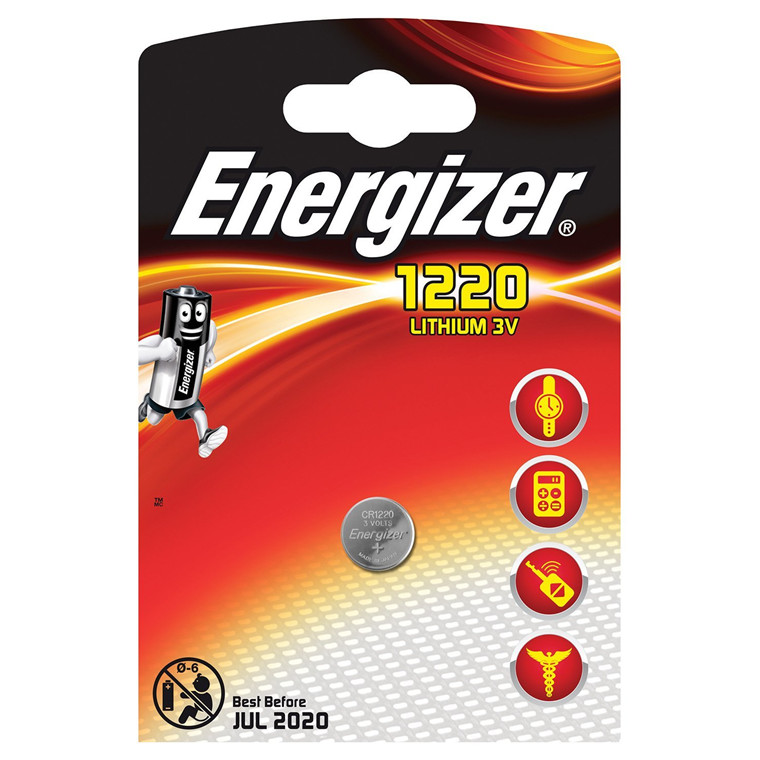 Energizer CR1220 Lithium 3V Knapbatteri - 1 stk