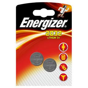 Energizer CR2032 Lithium Knapbatteri - 2 stk