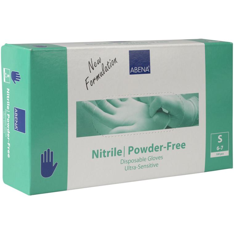 Engangshandsker blå nitril pudderfri Abena Ultra sensitive - Small