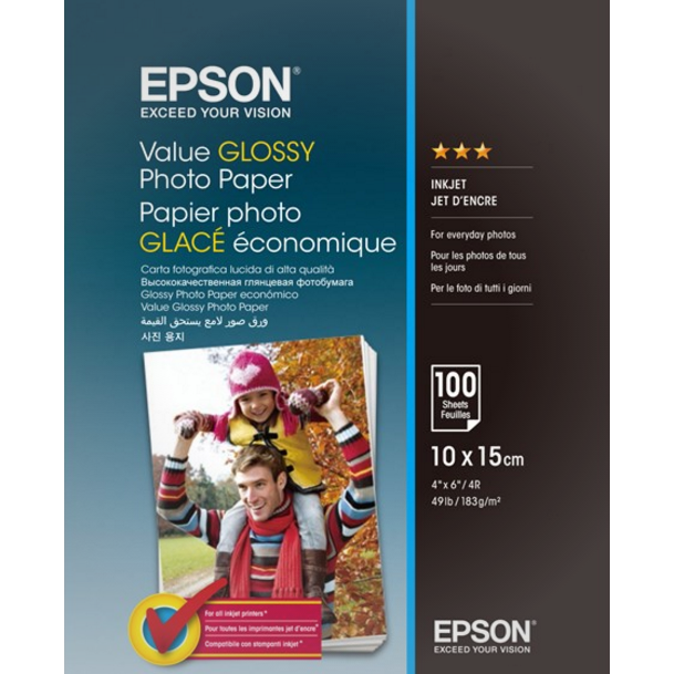 Epson - 10 x 15 cm Value Photo Papir - 100 ark