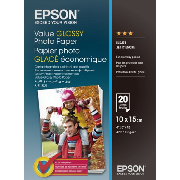 Epson - 10 x 15 cm Value Photo Papir - 20 ark