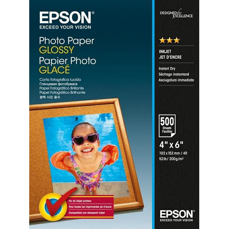 Epson - 10 x 15 cm Photo Papir Glossy - 500 ark