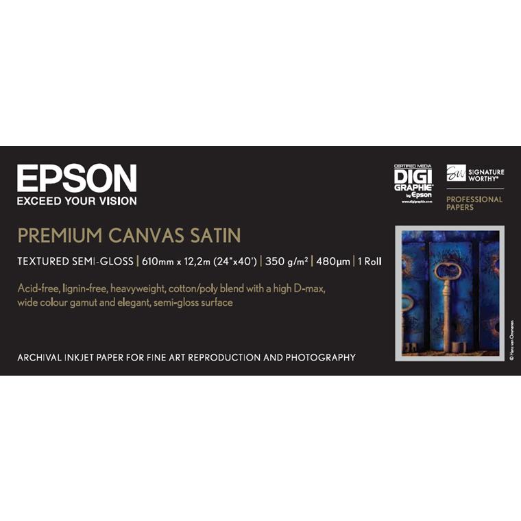 Epson 24'' Premium Canvas Satin Roll 350g 12,2m