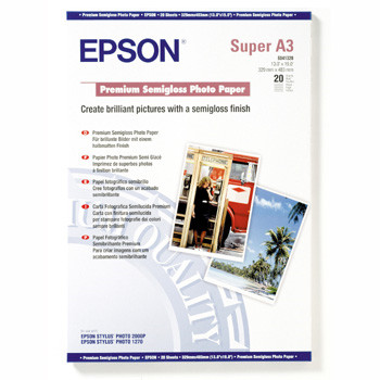 Epson - A3+ Premium Semigloss Photo Papir 251 gram 20 ark