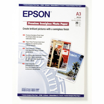 Epson - A3 251 gram Premium Semigloss Photo Papir 20 ark