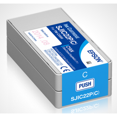 Epson Ink cartridge for TM-C3500 Cyan (SJIC22P)