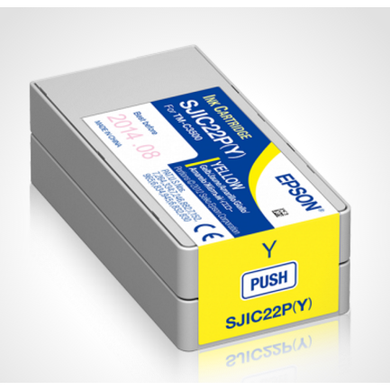 Epson Ink cartridge for TM-C3500 Yellow (SJIC22P)