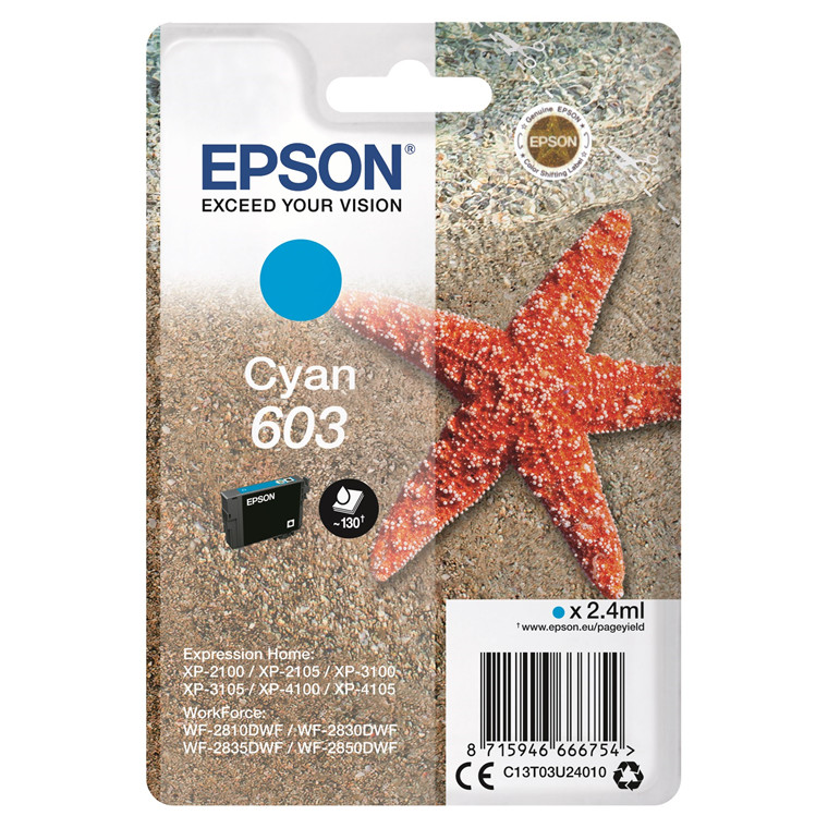 Epson T03U Cyan 603 Ink Cartridge