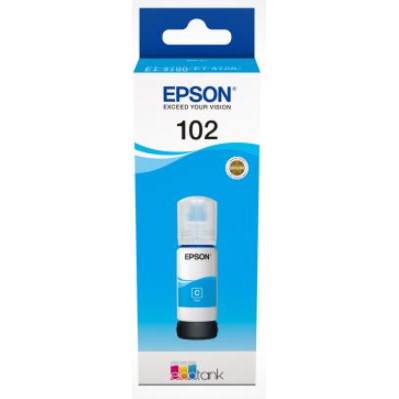 Epson T102 EcoTank Cyan Ink bottle