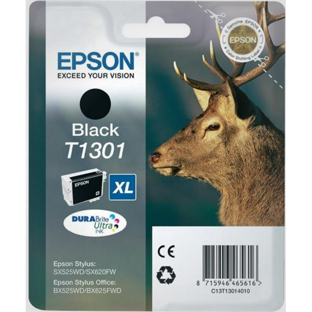 Epson T1301 Black Ink Cartridge XL